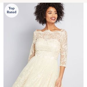 NWT gilded grace lace dress - prom wedding